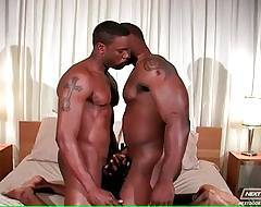 Black Dudes Converge In The Middle Of The Bed 1