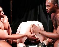 Black studs Nubius and Montaz with their white buddy Ryan perform amazing threesome.