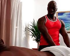 Masseur Jay Black is going to make his hot tough client feel good.